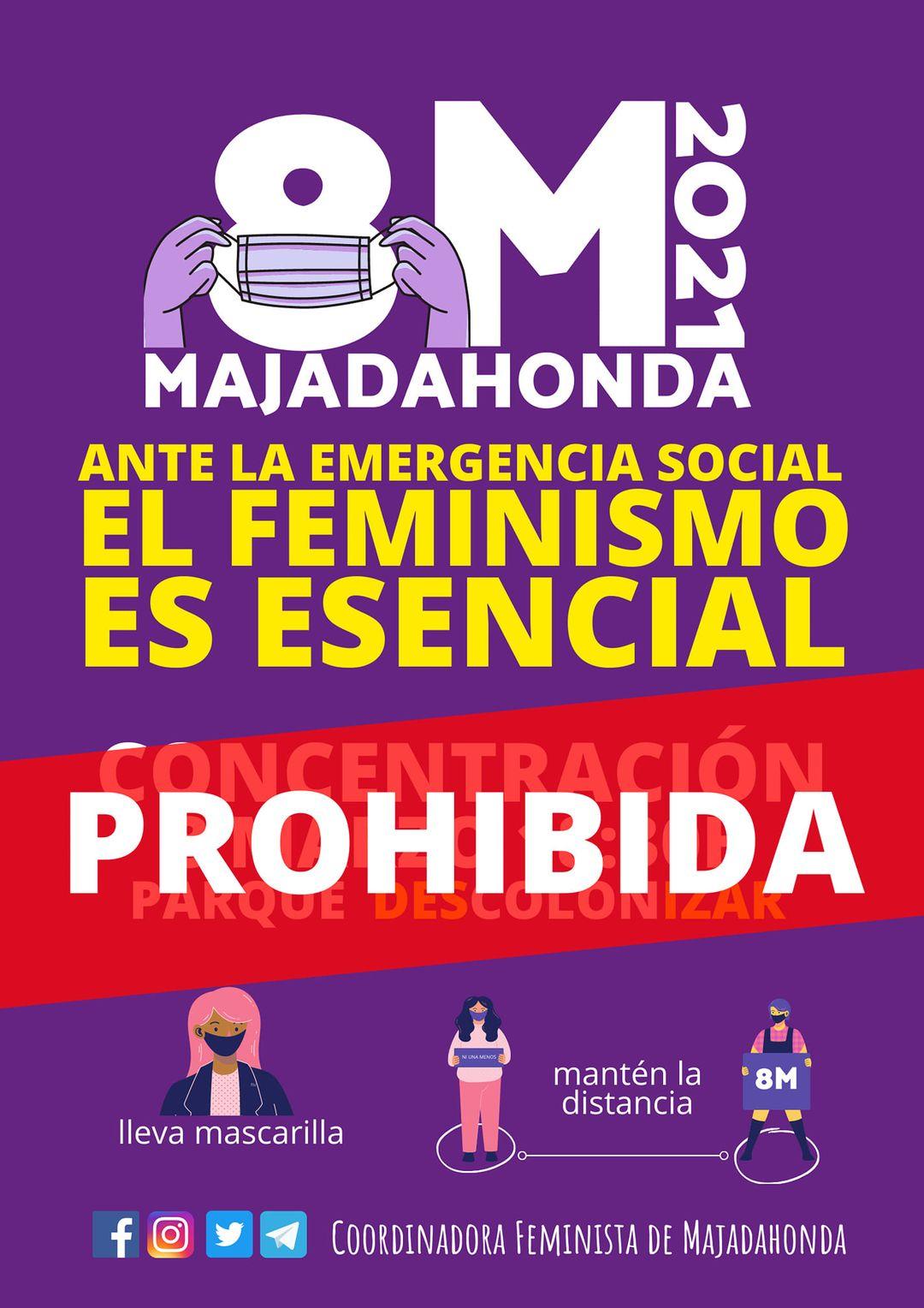 8-M: la derrota judicial en Majadahonda y la reacción negativa de las propias mujeres obliga a las feministas a desconvocar la manifestación