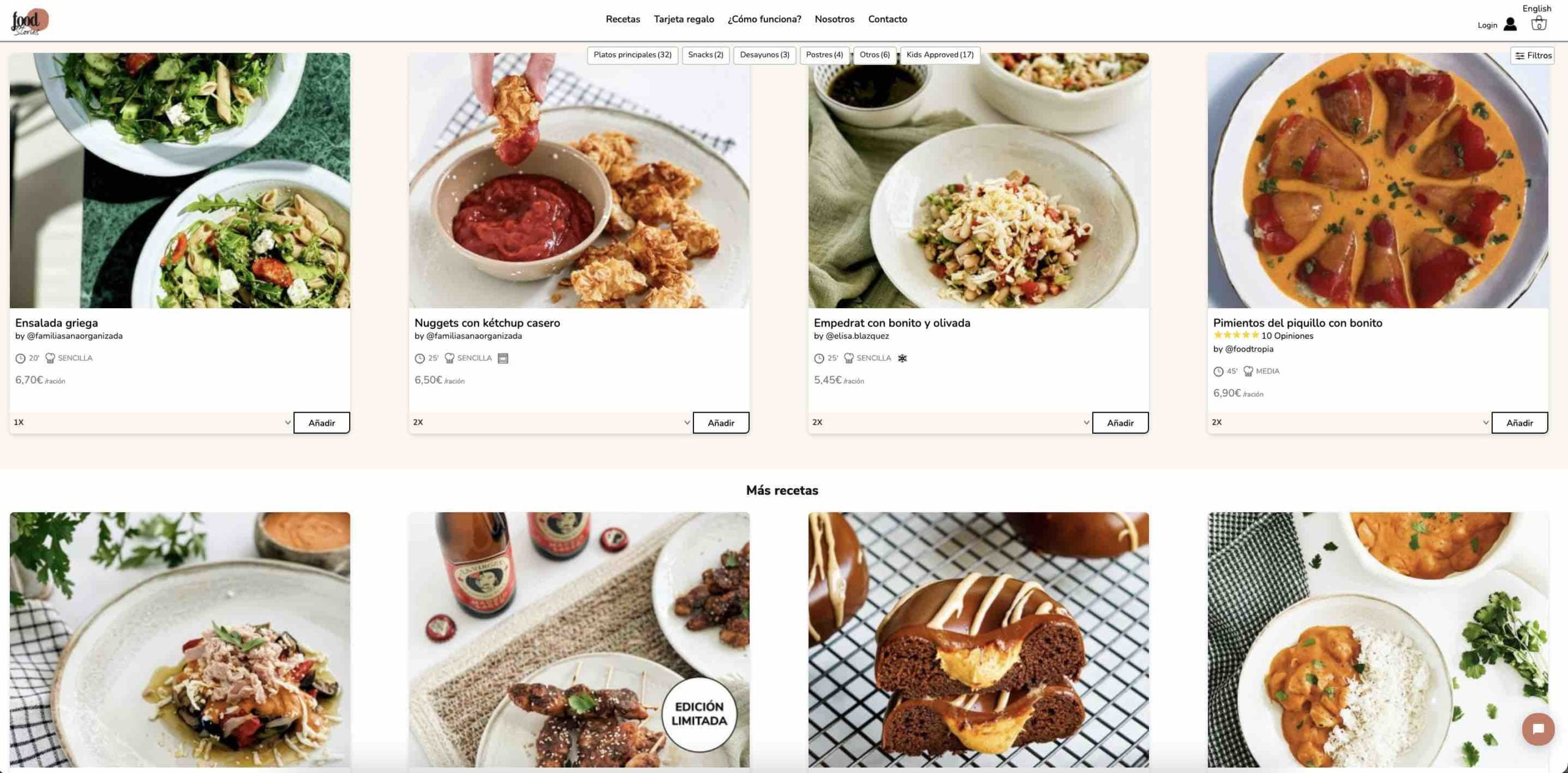 """""""FoodStories"""" entrega en casa sus recetas con los ingredientes: Majadahonda, Pozuelo, Aravaca, Boadilla, Las Rozas y Somosaguas"""