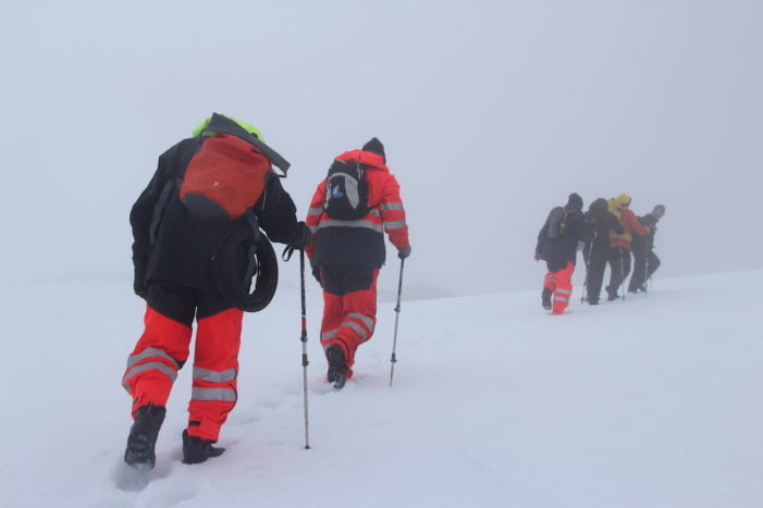 Gonzalo Sánchez Martín (Majadahonda), oficial alumno de la Marina Mercante, cuenta su aventura en la Antártida