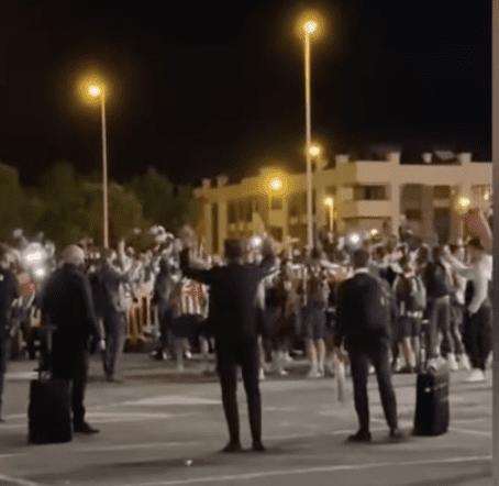 El Atleti festeja en Majadahonda su primera celebración del título de Liga 2020/21