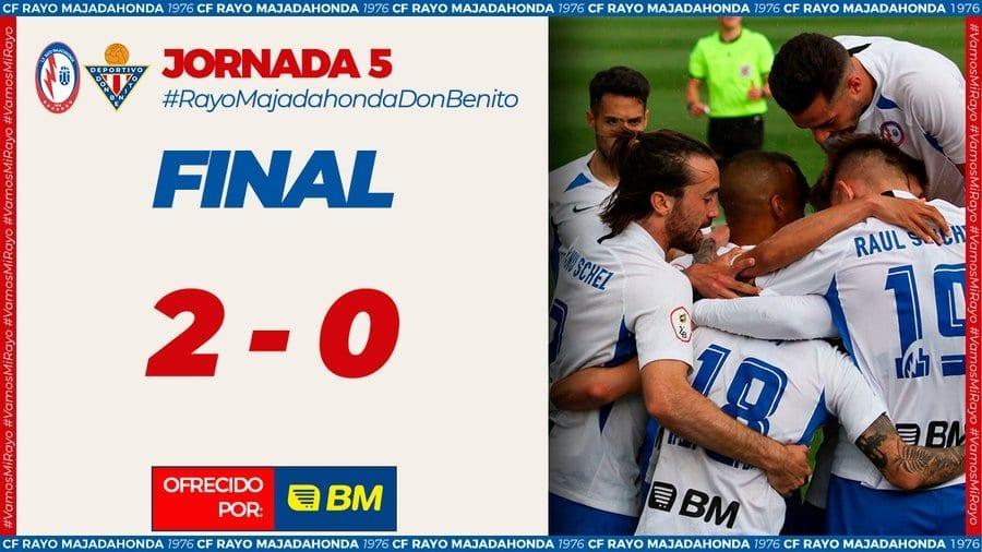 Rayo Majadahonda vence a Don Benito y defenderá en Villanovense su ascenso y su proyecto deportivo y económico