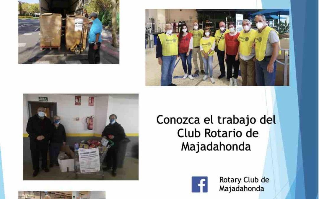 """Miguel Sanchiz (Club Rotario Majadahonda): """"Mi experiencia con la vacuna y alimentos por la crisis"""""""