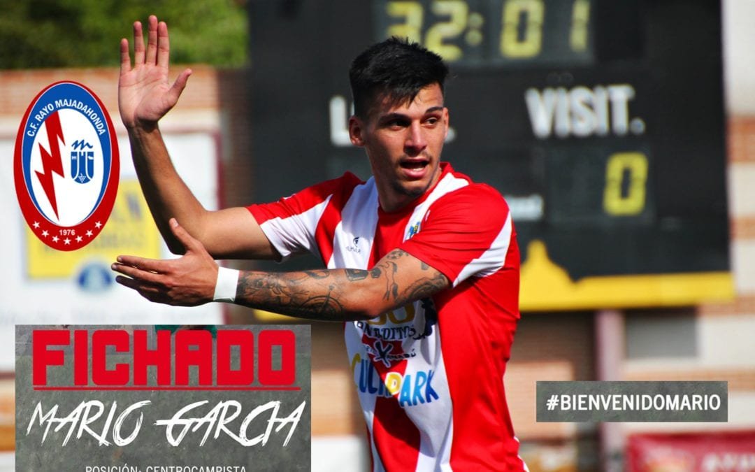 """Primer Fichaje Rayo Majadahonda: Mario García (Navalcarnero), el mediocentro que """"tumbó"""" en Copa al Badajoz, UD Las Palmas y Eibar"""