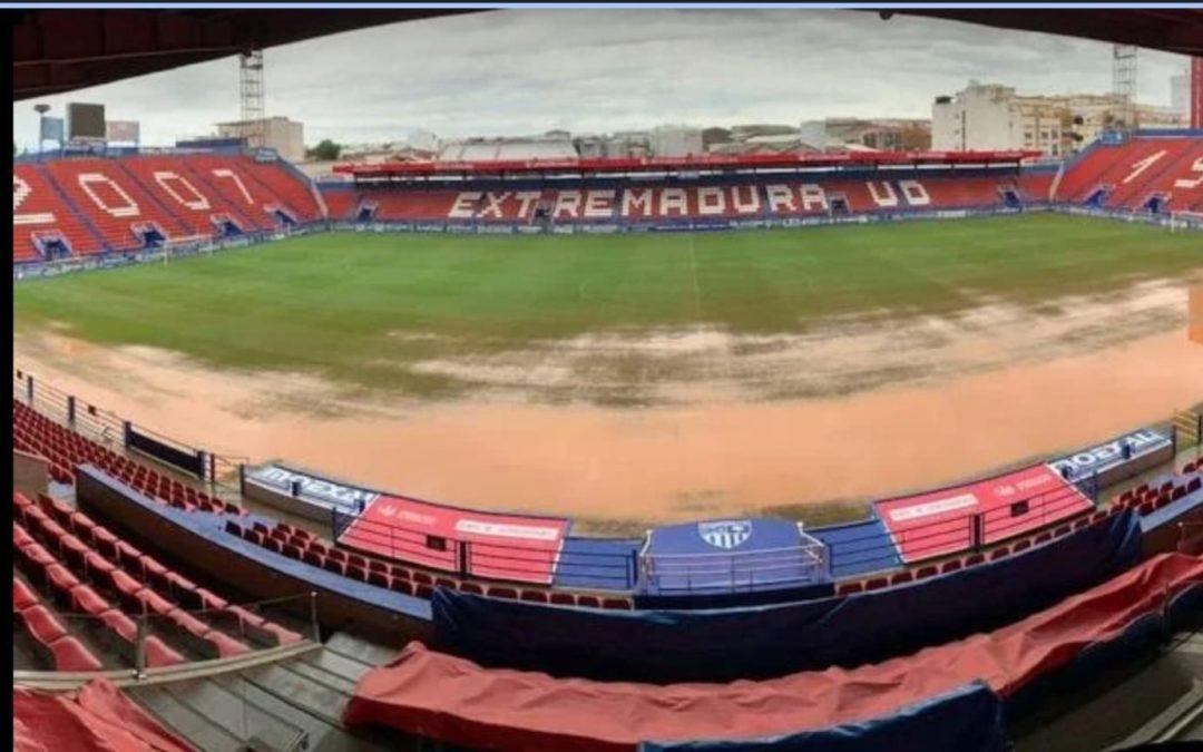 Suspense en Extremadura por las inundaciones y los pagos de Khalifa antes de su partido contra Rayo Majadahonda